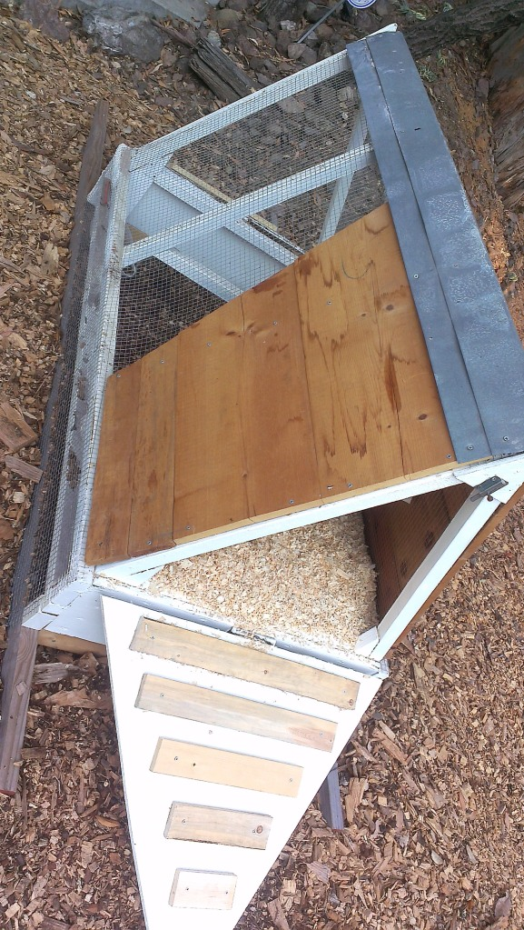 Side view of restored chicken tractor